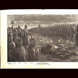 9083 WWI print Nowo-Georgiewsk Wilhelm II Kaiser German soldiers by Hoffmann