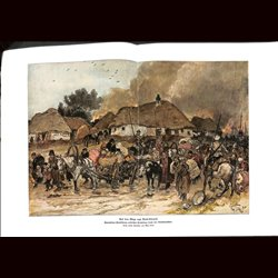 9084	 WWI print	 Brest-Litowsk Cossacks polish refugees 1915