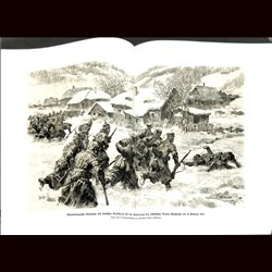 9085 WWI print Wurtemberg Landwehr German soliders Alsac Stossweier February 1915 France