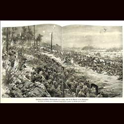 9086	 WWI print	 Le Mesnil France Champagne German soldiers trenches
