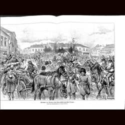 9088 WWI print Kolomea Hungro-Austrian soldiers