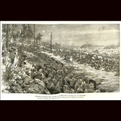 9089	 WWI print	 Le Mesnil France Champagne German soldiers trenches by Hans Schmidt