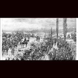9091 WWI print Kaiser Wilhelm II. Soisson France German soldiers by Hans Schmidt