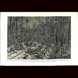 9092 WWI print German soldiers Polnd Lodz-Warzaw train November 1914