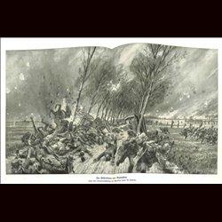 9096 WWI print Dixmuiden fire artillery train by Hans Schmidt