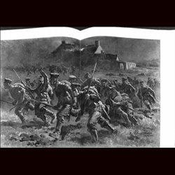 9097 WWI print Wytschaete  troops soldiers by Anton Hoffmann