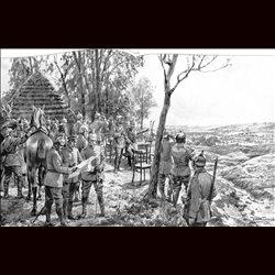 9098 WWI print Wilhelm II Kaiser Jaroslau german soliders
