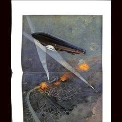 9103 WWI print Zeppelin Antwerpen by Moralt