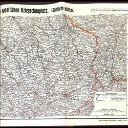 9110 WWI print map 1914/15 France South battelfields