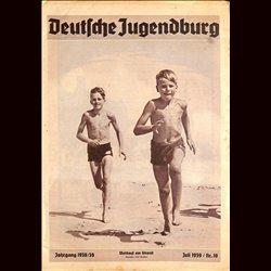 9130 DEUTSCHE JUGENDBURG No.  10-1939 Juli Jahrgang 1938/39