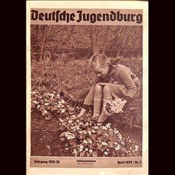 9132 DEUTSCHE JUGENDBURG No.  7-1939 April Jahrgang 1938/39