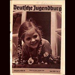 9137 DEUTSCHE JUGENDBURG INCOMPLETE No.   9-1939 Juni Jahrgang 1938/39