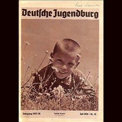 9144 DEUTSCHE JUGENDBURG No.  10-1938 Juli Jahrgang 1937/38