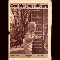 9147 DEUTSCHE JUGENDBURG INCOMPLETE No.  11-1938 August Jahrgang 1937/38