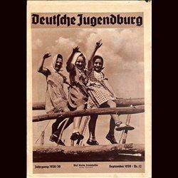 9162 DEUTSCHE JUGENDBURG No.  12-1939 September Jahrgang 1938/39