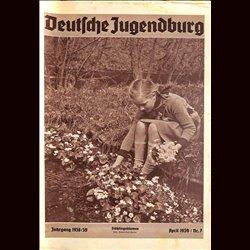 9164 DEUTSCHE JUGENDBURG No.  7-1939 April Jahrgang 1938/39