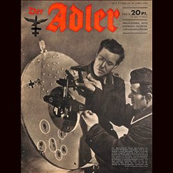 0429	 DER ADLER	-INCOMPLETE No.	9	-1944	 vintage German Luftwaffe Magazine Air Force WW2 WWII