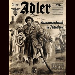 0444	 DER ADLER	 -No.	12	-1940	 vintage German Luftwaffe Magazine Air Force WW2 WWII