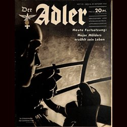 0451	 DER ADLER	 -No.	22	-1940	 vintage German Luftwaffe Magazine Air Force WW2 WWII
