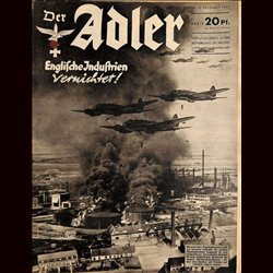 0453	 DER ADLER	 -No.	25	-1940	 vintage German Luftwaffe Magazine Air Force WW2 WWII