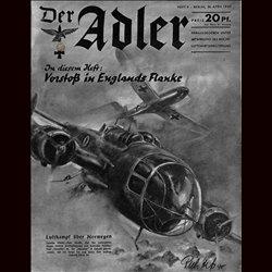 0469 DER ADLER -No.9-1940 vintage German Luftwaffe Magazine Air Force WW2 WWII