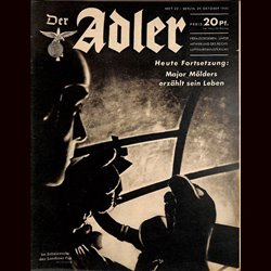 0471	 DER ADLER	 -No.	22	-1940	 vintage German Luftwaffe Magazine Air Force WW2 WWII