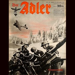 0472	 DER ADLER	 -No.	26	-1940	 vintage German Luftwaffe Magazine Air Force WW2 WWII