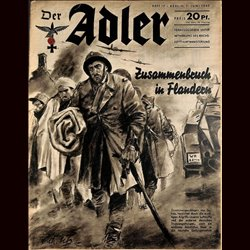 0473	 DER ADLER	 -No.	12	-1940	 vintage German Luftwaffe Magazine Air Force WW2 WWII