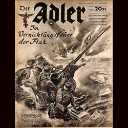 0482	 DER ADLER	 -No.	15	-1940	 vintage German Luftwaffe Magazine Air Force WW2 WWII