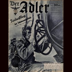 0484	 DER ADLER	 -No.	6	-1940	 vintage German Luftwaffe Magazine Air Force WW2 WWII