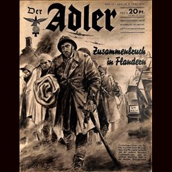 0488	 DER ADLER	 -No.	12	-1940	 vintage German Luftwaffe Magazine Air Force WW2 WWII