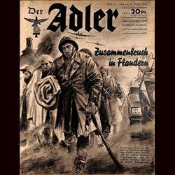 0488 DER ADLER -No.12-1940 vintage German Luftwaffe Magazine Air Force WW2 WWII