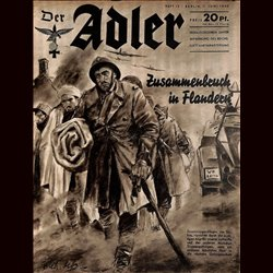 0489	 DER ADLER	 -No.	12	-1940	 vintage German Luftwaffe Magazine Air Force WW2 WWII
