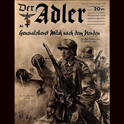 0491	 DER ADLER	 -No.	10	-1940	 vintage German Luftwaffe Magazine Air Force WW2 WWII