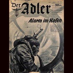 0495 DER ADLER -No.7-1940 vintage German Luftwaffe Magazine Air Force WW2 WWII