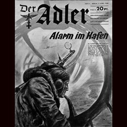 0496	 DER ADLER	 -No.	7	-1940	 vintage German Luftwaffe Magazine Air Force WW2 WWII
