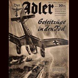 0498 DER ADLER -No.15-1940 vintage German Luftwaffe Magazine Air Force WW2 WWII