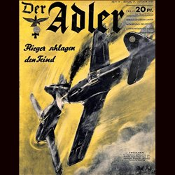 0523	 DER ADLER	 -No.	19	-1939	 vintage German Luftwaffe Magazine Air Force WW2 WWII