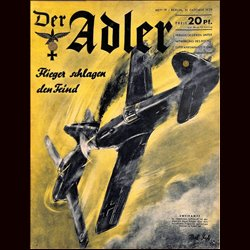 0524	 DER ADLER	 -No.	19	-1939	 vintage German Luftwaffe Magazine Air Force WW2 WWII
