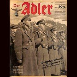 0537 DER ADLER -No.7-1941 vintage German Luftwaffe Magazine Air Force WW2 WWII