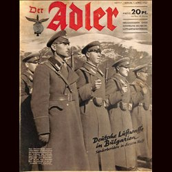 0538	 DER ADLER	 -No.	7	-1941	 vintage German Luftwaffe Magazine Air Force WW2 WWII