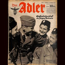 0540	 DER ADLER	 -No.	4	-1941	 vintage German Luftwaffe Magazine Air Force WW2 WWII