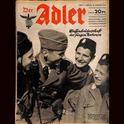 0540 DER ADLER -No.4-1941 vintage German Luftwaffe Magazine Air Force WW2 WWII