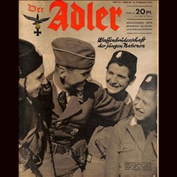 0541	 DER ADLER	 -No.	4	-1941	 vintage German Luftwaffe Magazine Air Force WW2 WWII