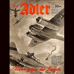 0546	 DER ADLER	 -No.	14	-1941	 vintage German Luftwaffe Magazine Air Force WW2 WWII