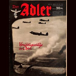0547	 DER ADLER	 -No.	15	-1941	 vintage German Luftwaffe Magazine Air Force WW2 WWII