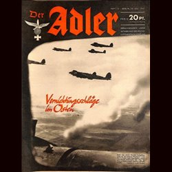 0548	 DER ADLER	 -No.	15	-1941	 vintage German Luftwaffe Magazine Air Force WW2 WWII