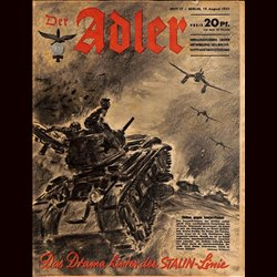0550	 DER ADLER	 -No.	17	-1941	 vintage German Luftwaffe Magazine Air Force WW2 WWII