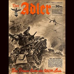 0551	 DER ADLER	 -No.	17	-1941	 vintage German Luftwaffe Magazine Air Force WW2 WWII - content: 	Stalin Line Soviet Russia