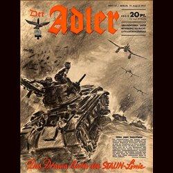 0551 DER ADLER -No.17-1941 vintage German Luftwaffe Magazine Air Force WW2 WWII - content: Stalin Line Soviet Russia